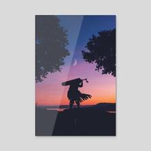 Black Swordsman - Acrylic by Obnubilant  ラヤン