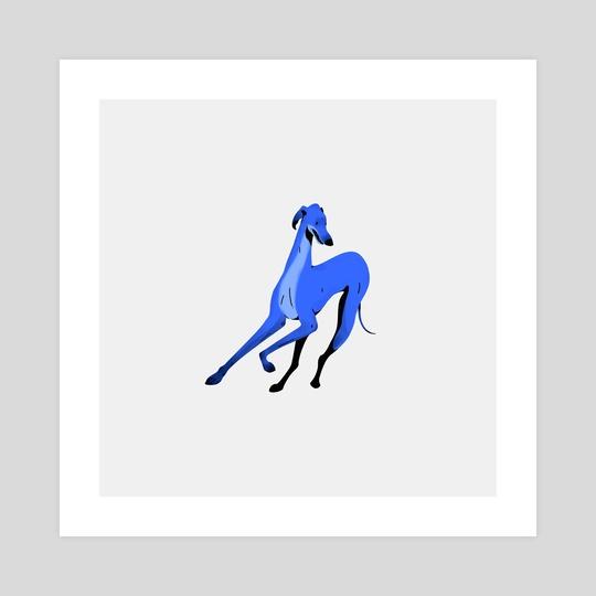 Greyhound pose 5 by Joanna Dudoń