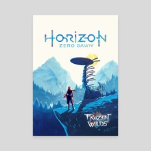 Horizon Zero Dawn, The Frozen Wilds poster - Canvas by Birgitte Johnsen