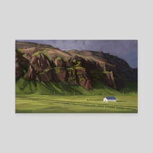 Iceland Study #9 - Canvas by Erin McGuire