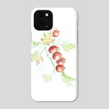 branch with berrys - Phone Case by Csilla