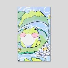 Frog Baby - Acrylic by Imani Samuel