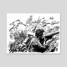 Lincoln's Brigade - Acrylic by Matt Rota