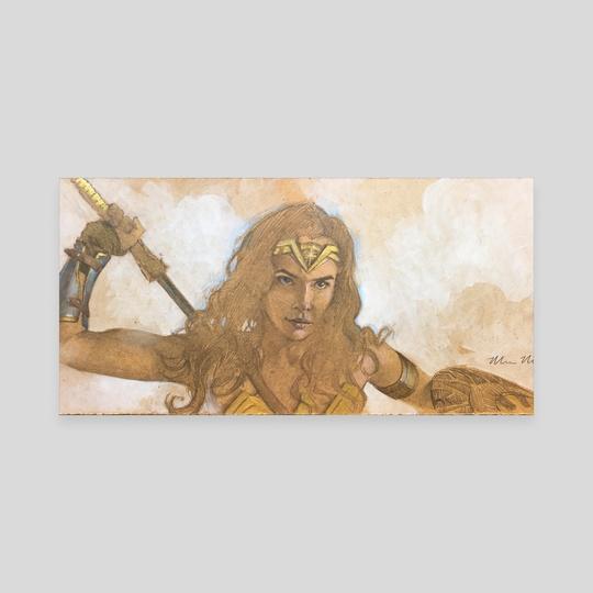 Gal Gadot as Wonder Woman by Mark Molchan
