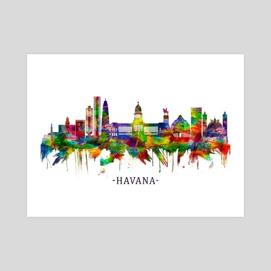 Havana Cuba Skyline by Towseef Dar