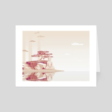 Buddha on the Shore - Art Card by Kevin Houlihan