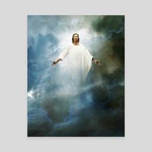 Christian Mythology for Kids - Jesus Rises to Heaven - Canvas by Chris Zakrzewski