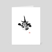 cat falling - Art Card by philippe imbert
