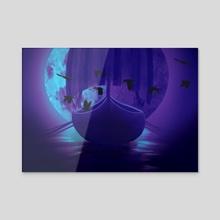 Viking Ghost Ship - Acrylic by Anthony Pilgreen