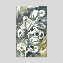 Floral transitions I. - Olives II. - Acrylic by Orchie Lucas