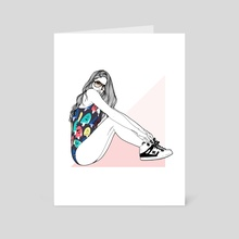 Pop Popsicle  - Art Card by Audrey Henry