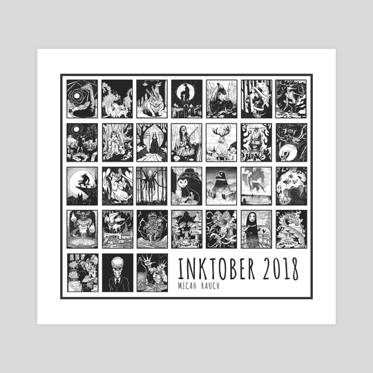 Inktober 2018 Month Completed by Micah Rauch