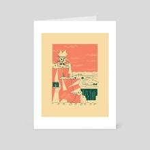 Mountaintop Adventurer - Art Card by shafer brown