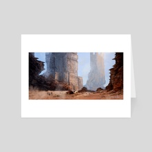 Desert City - Art Card by Dario Marzadori