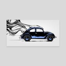 Retro Beetle - Canvas by Nikita Abakumov