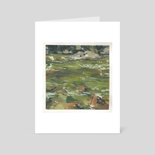 You Would Have Waded In - Art Card by Becki Shu