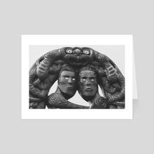 Maori Tribal Totem - Art Card by Alex Tonetti