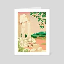 Sicilia - The Mediterranean - Art Card by Jeannie Phan