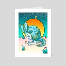 the rabbit - Art Card by muhcatur putra