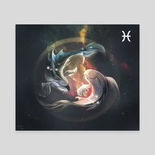 Zodiac Signs: Pisces - Canvas by Daniela Guarecuco