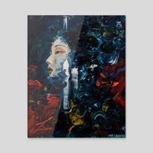 PORTRAIT WORK 6 - Acrylic by Jeff Grimal