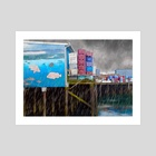 Port Dock One - Newport, Oregon - Art Print by Jason Pedegana