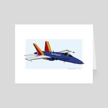 Southwest Airlines F/A-18 Hornet - Art Card by Eric Etten