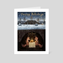 Happy Holidays - I - Art Card by Chuck Groenink
