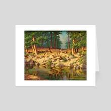 Sierra Pond by V.P. Shkurkin - Art Card by Katya Shkurkin