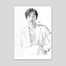 Gong Yoo 4 - Acrylic by Susan Lilley