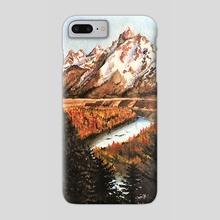 Golden Mountain Autumn Valley - Phone Case by Aurora Borealis