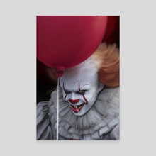 Pennywise - Canvas by Andi Robinson