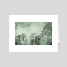 Green trees - Art Card by Tess Myers