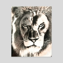 Gold Lion - Canvas by Casey O'Neill